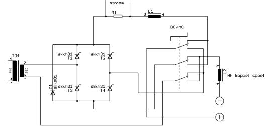 Stuurstroomschema van een lasapparaat